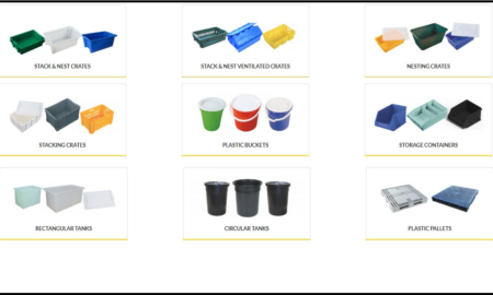 Plastic Crates, Bins, Tubs & Containers