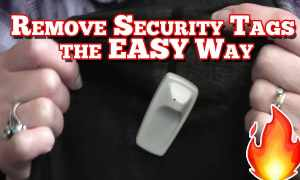 How to remove a security tag